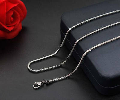 """High Quality Brand New Stainless Steel Snake Chain Flat Necklace 18"""" /45cm 1.5mm"""