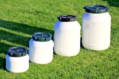 Plastic Barrel with Screw Cap Lid Ideal for Food Storage - Fermentation 5L-65L