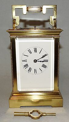 Rare Antique French 5 Minute 2 Button Repeater Carriage Clock