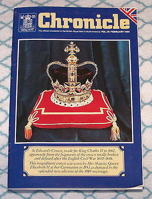 Chronicle - official newsletter of British Royal Mint in North America Feb. 1989