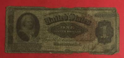 """1886 $1 US """"MARTHA Washington"""" SILVER Certificate """"LARGE SIZE"""" Currency!"""