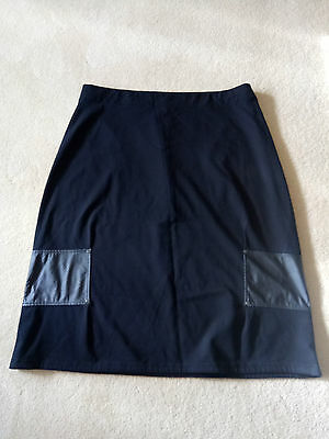TS Taking Shape Black Short Pencil Skirt with Elastic Waist Size 20