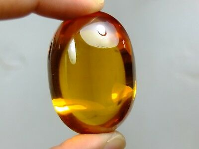 94 gram , Beautiful Orange NAGA EYE GEM 100% REAL HIGH POWER Buddha Amulet