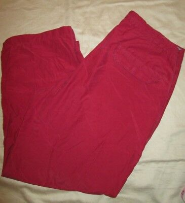 Womens Columbia Capri Cropped Red Pants Size Small Quick Dry