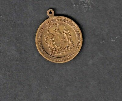 1937 CORONATION MEDAL ISSUED IN VICTORIA TO CELEBRATE CORONATION OF GEO.6th.