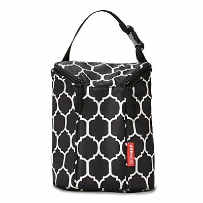 Skip Hop Grab and Go Double Insulated Warmer or Chiller Bottle Bag - Onyx Tile