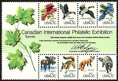 US 1978 CAPEX Canada Wildlife Souvenir Sheet, Stamp 1757, Mint MNH - JP1