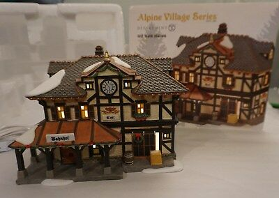 Dept 56 Reit Train Station (Bahnhof) Alpine Village 4025235 - VERY RARE