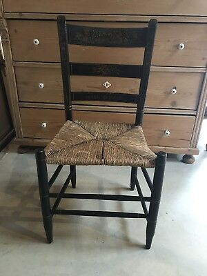 Antique English Stencil Back Chairs