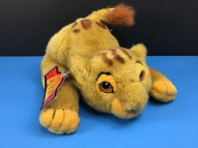 "New Disney Store Lion King Simba Crouching Plush Soft Toy 8"" Stuffed Animal"