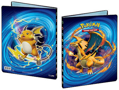 Mega Charizard Pokemon Card Folder 9-Pocket 10 Pages Raichu