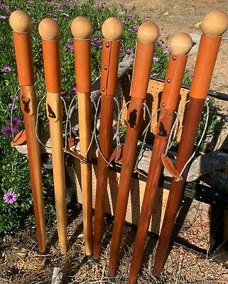 """29"""" to 37"""" Redwood Walking Cane Sticks --Thick Round Top Soft Handle Palm Grip"""