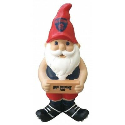 Melbourne Demons Official AFL Garden Gnome with Sign UNBOXED
