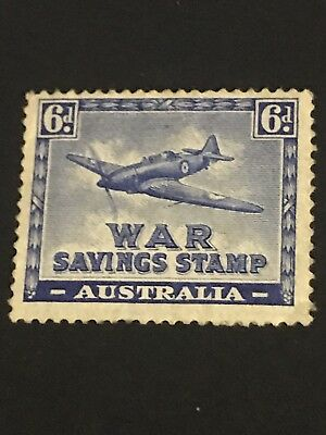 1940 AUSTRALIA 6d WAR SAVINGS STAMP  Mint Small Crease See Scan  From Perth WA