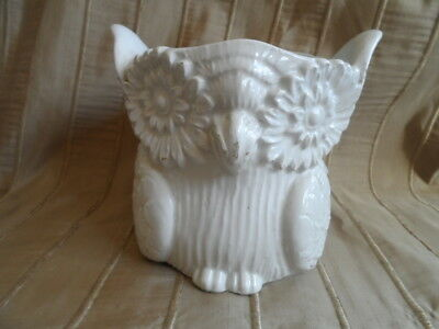 Vintage Owl Jardiniere Made in Italy