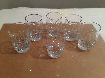 A Set of 6 Crystal Tumblers