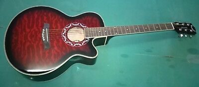 """Chitarra Acustica New Orleans 40"""" Colore Red Cloud"""