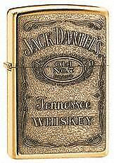 Zippo Jack Daniels Label Brass Emblem High Polish Brass
