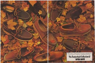 Original 1985 The Timberland Collection at Jordan Marsh 2-page Vintage Print Ad