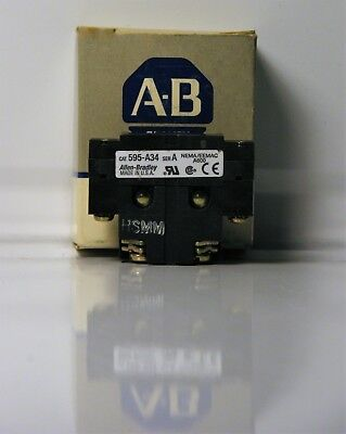 New Allen Bradley 595-A34 Series A Auxiliary Contact