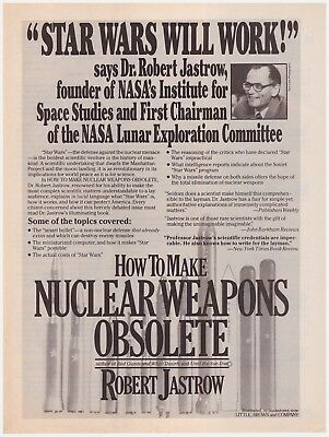 Original 1985 Star Wars Will Work! Nuclear Weapons Obsolete Vintage Print Ad