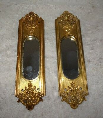 Antique Architectural BRASS Backplate Door Plate Mirrored -Theatre Opera House