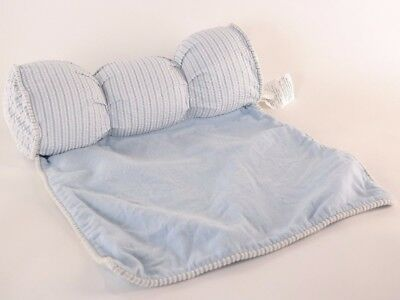 Blue Stripe Sleep Positioner Pillow With Removable Cover And Nonslip Backing