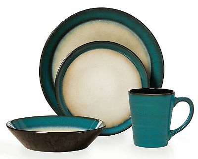 Pfaltzgraff Everyday Aria 16-Piece Dinnerware Set Service for 4  sc 1 st  PicClick & EVERYDAY PALM STONEWARE Dinnerware Set by Pfaltzgraff 16 Piece Set ...