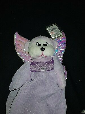Skansen Beanie Kid Angie The Guardian Angel Bear Mwmt Christmas Retored Xmas