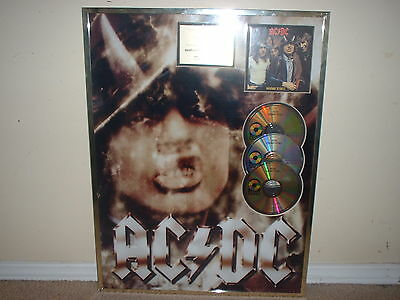 AC/DC GOLD RECORD AWARD NON RIAA HIGHWAY TO HELL!!!  GERMANY  25 x19