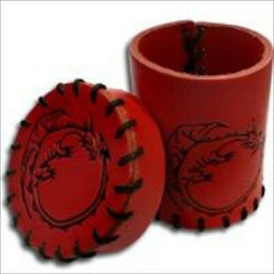 Dragon Red Leather Dice Cup