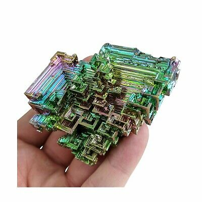 GEMCORE: One (1) XXL Rainbow Bismuth Crystal Display Mineral Specimen Education