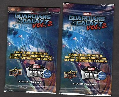 New Marvel Guardians of the Galaxy Vol 2 WALMART EXCLUSIVE Upper Deck Card Packs