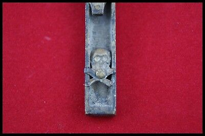 † 19Th Exorcism Mori Pectoral Bronze Priest Cross Crucifix Skull Bones France †