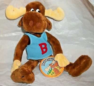 """NWT Rare 1991 24K Special Effects Mighty Star P.A.T. WARD Plush BULLWINKLE 12"""""""
