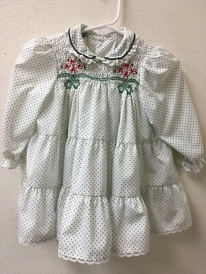 Precious!! Smocked Vintage Toddler Girl's Dress + Bloomers 24 Months -about a 2T