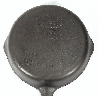 Vintage Cast Iron Sidney O 1053 #3 Wagner Ware Camp Fire Skillet Chef Sauté Pan