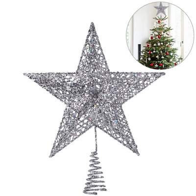Christmas Tree Topper Star Decoration Exquisite Shimmery Star Treetop Decor 25cm