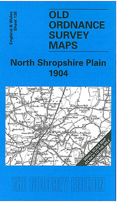 Old Ordnance Survey Map North Shropshire Plain 1904 Ellesmere Hodnet Shawbury