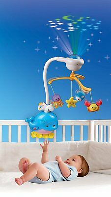 Newborn Baby Bed Mobile With Lights And Music Nursery Decor Crib Toy Projection