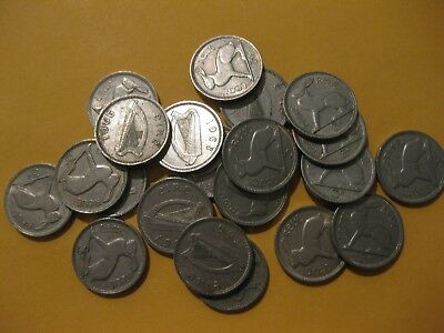 """Ireland Coin grp 3 pence """"HARE"""" super neat rabbit coins nice 20 pc lot"""