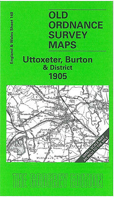 Old Ordnance Survey Map Uttoxeter Burton 1905 Rugeley Tixall Yoxall Doveridge