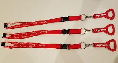 Supreme Lanyard RED with Bottle Opener USA Seller
