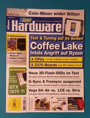 PC Games Hardware 12/2017 Ausg.206  mit DVD !!! ungelesen 1A absolut TOP