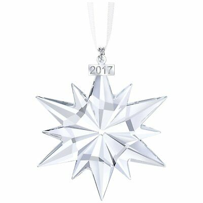 2017 Swarovski Crystal Clear Star Snowflake Annual Edition Christmas Ornament