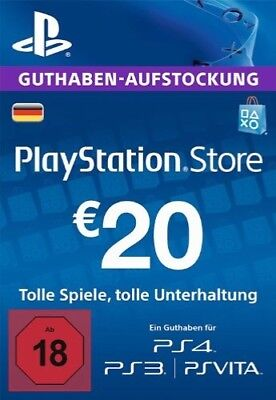 20€ PSN DE Playstation Network Code Card 20 Euro € EUR | PS4, PS3, Vita Guthaben
