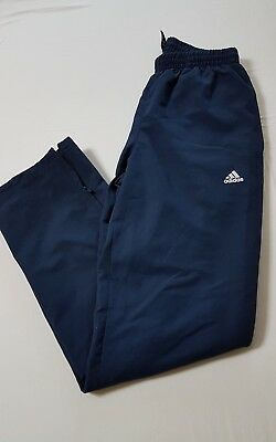 ADIDAS  CLIMALITE PERFORMANCE ESSENTIALS TRACK PANTS BOTTOMS. Small