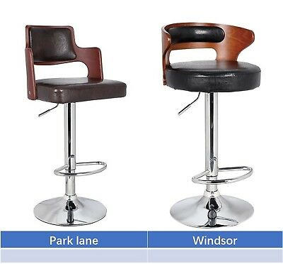 Phenomenal Bar Stool Chair Walnut Bentwood Faux Pu Leather Swivel Pabps2019 Chair Design Images Pabps2019Com