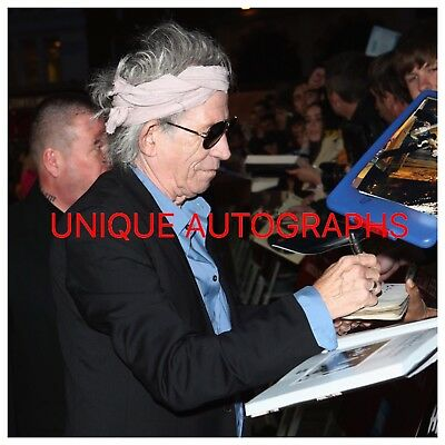 Keith Richards Personally Signed Photo, The Rolling Stones, Proof Shown