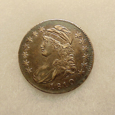 1810 Capped Bust Half - O.110 - Sharp Looking Coin - FREE SHIPPING